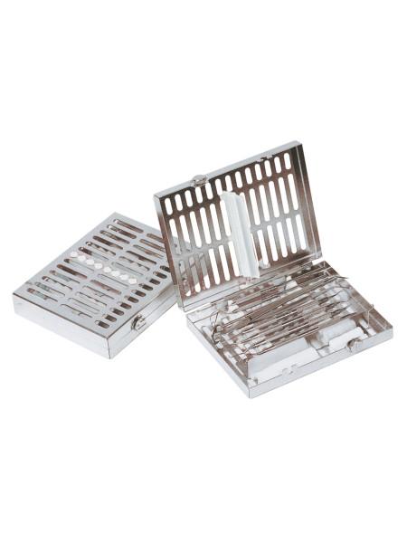 Кассета IMS, 8 инструментов (152х184х34) белая, отделение для аксессуаров