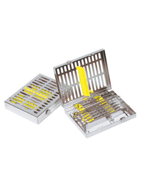 Кассета IMS, 8 инструментов (152х184х34) желтая, отделение для аксессуаров