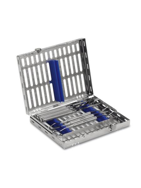 Кассета IMS, 8 инструментов (152х184х34) голубая, отделение для аксессуаров