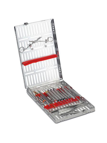 Кассета IMS,13 инструментов (290х184х34) красная, отделение для аксессуаров