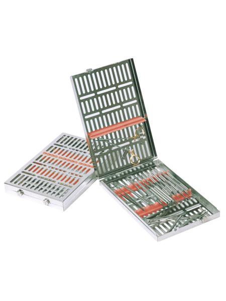 Кассета IMS,13 инструментов (290х184х34) оранжевая, отделение для аксессуаров