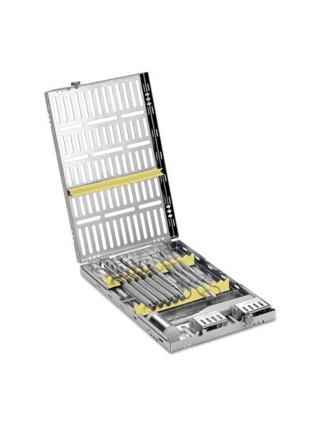 Кассета IMS,13 инструментов (290х184х34) желтая, отделение для аксессуаров
