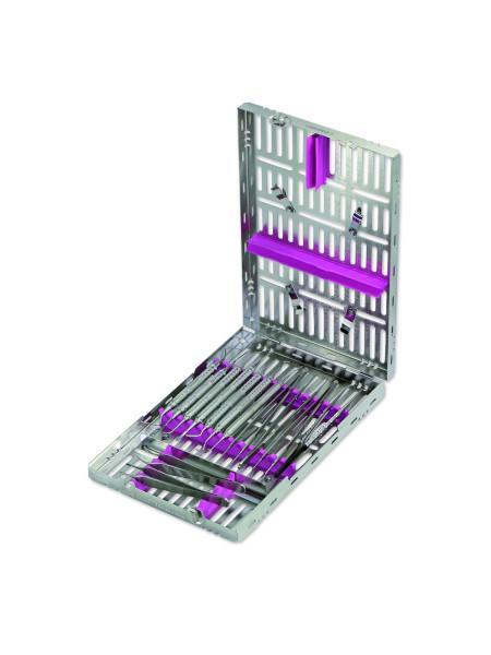 Кассета IMS,18 инструментов (290х184х34) розовая, дополнительное место, для хирургии