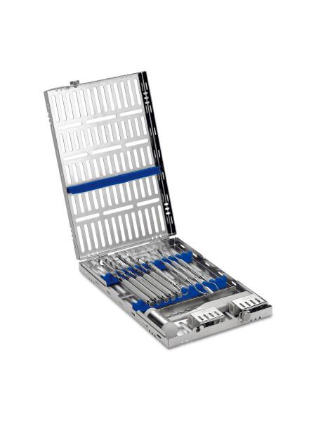 Кассета IMS,13 инструментов (290х184х34) голубая, отделение для аксессуаров