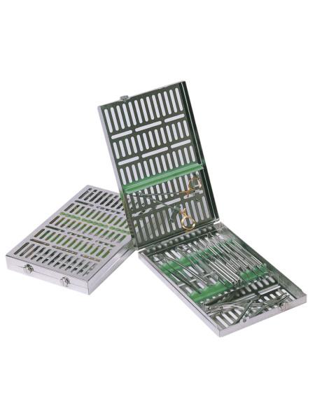 Кассета IMS,13 инструментов (290х184х34) зеленая, отделение для аксессуаров