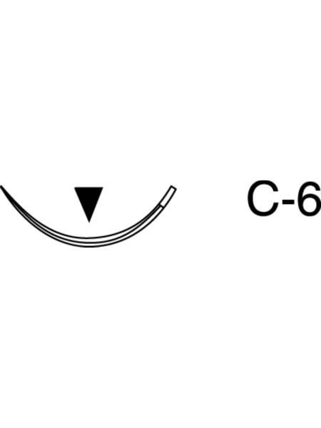 Шовный материал - шелк, 5-0, С-6, 3/8 окружности